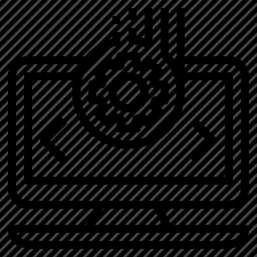 coder, developer, programmer, setting, system icon