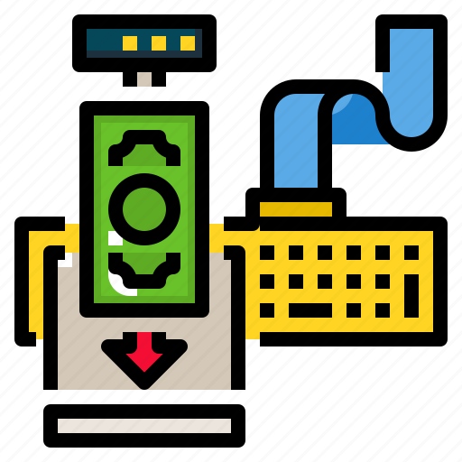Counter, cashier, payment, store, retail icon