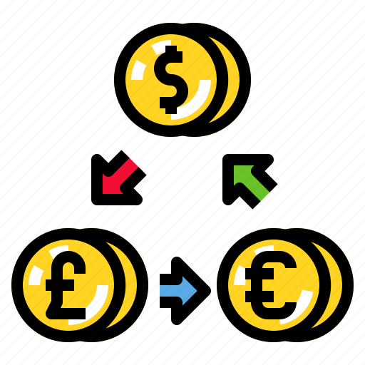 currency, exchange, finance, investment, money icon