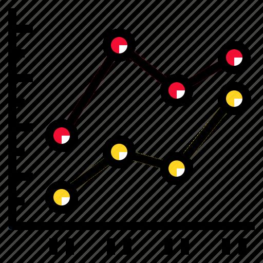 Diagram, graph, line, data, chart icon