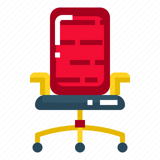 Chair, furniture, business, office, seat icon