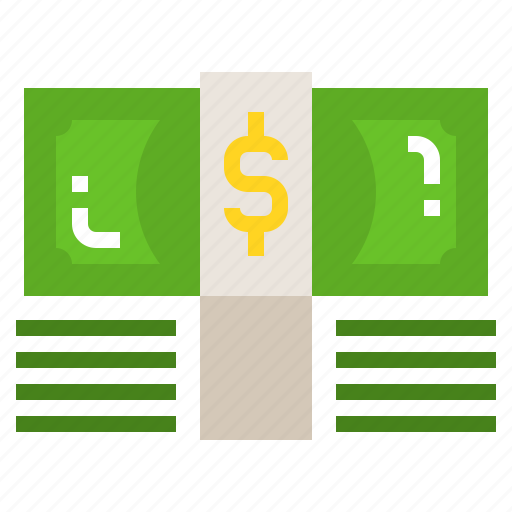 Currency, paper, financial, banknote, money icon