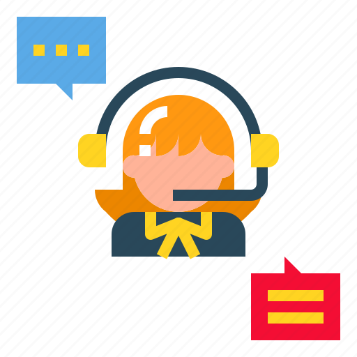 Customer, headset, call, service, people icon