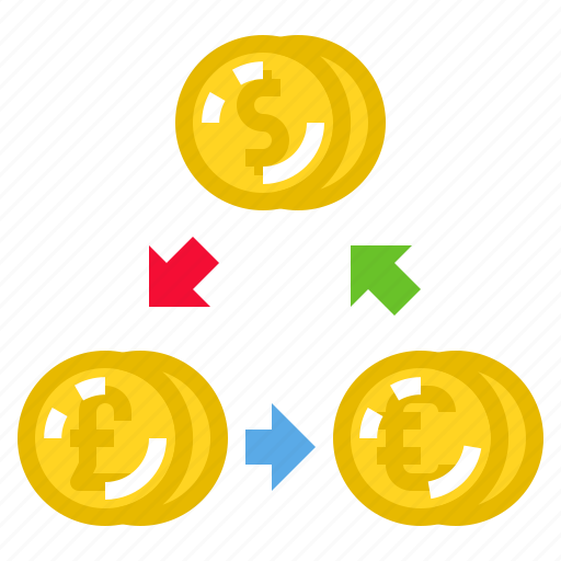 Currency, exchange, investment, finance, money icon