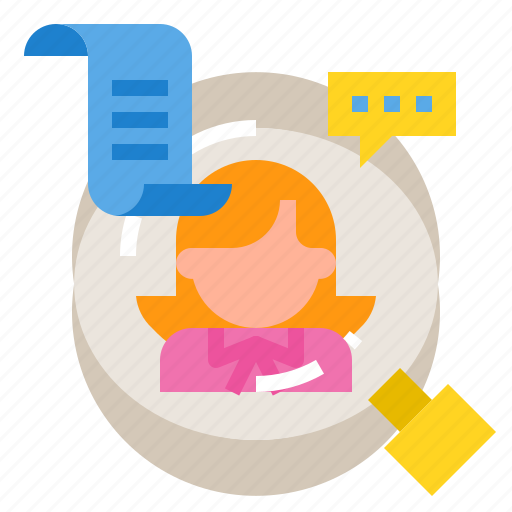 business, interview, job, office, work icon
