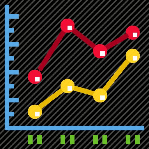 chart, data, diagram, graph, line icon
