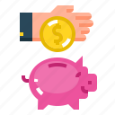 bank, coin, investment, money, piggy icon