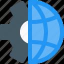 gear, global, grids, mechanics, network, service, setting icon