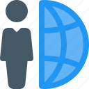 global, grids, human, industry, labor, network, worker icon