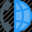 auricular, call, distance, international, receiver, telephone, worldwide icon