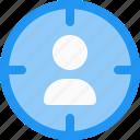 aim, avatar, focus, objective, profile, target, user icon