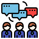 brainstorm, business, discussion, teamwork icon