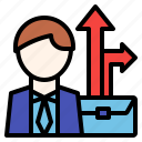 business, career, growth, job, path icon