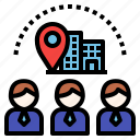 business, company, visit, visitor icon