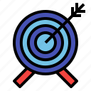 business, focus, goal, target icon