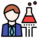 chemical, development, labolatory, manufactoring, research, scientist icon