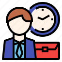 business, management, meeting, reliable, time icon