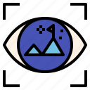 business, focus, goal, vision icon