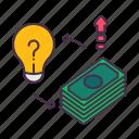 business, financial, idea, investment, management, money, profit icon