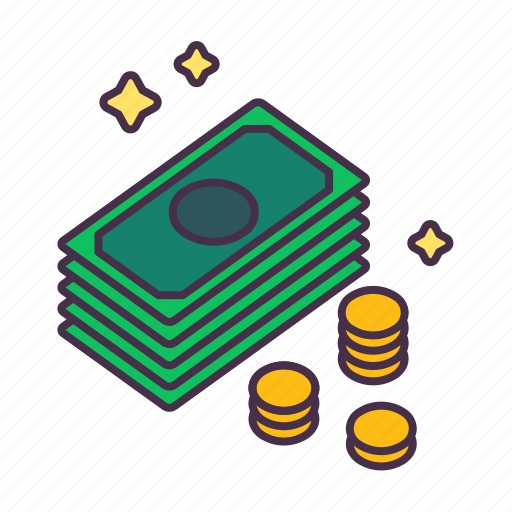 business, coins, finance, investment, money, profit, wealthy icon