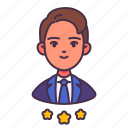 avatar, man, people, personnel, rating, staff, star icon