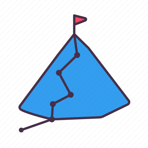 acheivement, ambition, business, flag, mountian, success, target icon