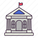 bank, building, business, finance, institute, loan, money icon