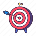 aim, arrow, business, goal, marketing, sales, target icon