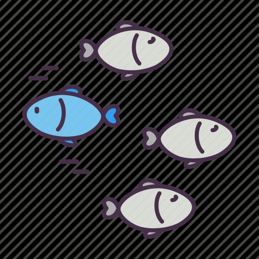 business, different, fish, identity, marketing, unique icon
