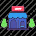 asset, building, business, estate, loan, shop, store icon