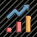 analysis, arrow, graph, growth, profit icon