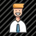 business, businessman, employee, man, worker icon