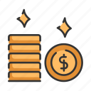 bank, budget, coin, currency, finance, money icon