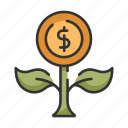 business, coin, currency, finance, fruitful, growth, money icon