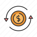 banking, business, currency, exchange, finnace, money icon