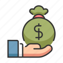 bank, budget, business, chance, finance, investor, money icon