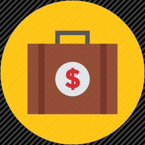 briefcase, cash briefcase, money bag, money briefcase, suitcase icon