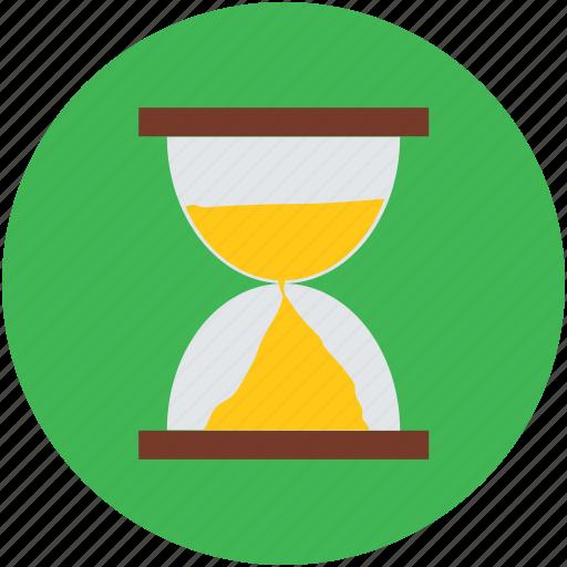 hourglass, hurry, late, sandglass, waiting icon