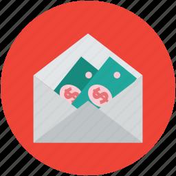 cash, envelope, money, paper cash, paper money icon
