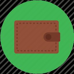 brown color, money, pocketbook, purse, wallet icon