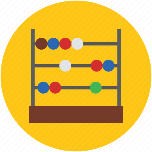 abacus, beads, business, calculation, calculator, concept, learning, math, wood icon