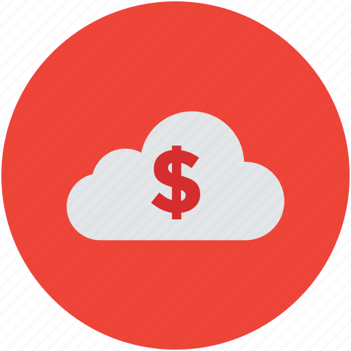 business, cloud, dollar, global, investment, money, network, symbol, workstation icon
