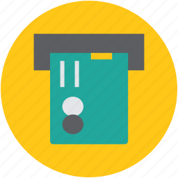 atm, atm card, pay, transaction, withdrawal icon
