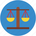 justice, law, legal, scale, symbol, weight icon