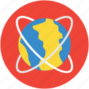 atom, atomic, earth, globe, nuclear, orbiting, symbol icon