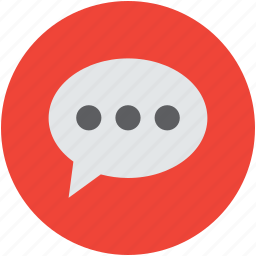 balloon, bubble, chat sign, conversation, internet, online, speech, talk icon