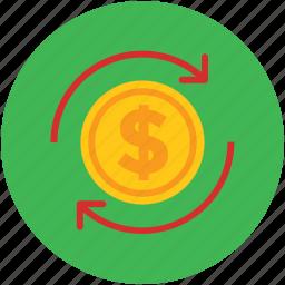 convert, currency, dollar, refresh, sync, transfer icon