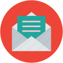 email, letter, mail, message, messaging, online, opened icon