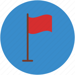 empty, flag, flagpole, mini stand, table, table flag icon