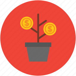 benefit, business, concept, growth, infographic, money, plant, statistics icon